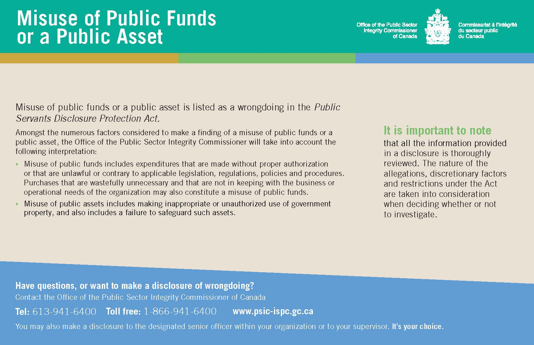 Misuse of Public Funds or a Public Asset